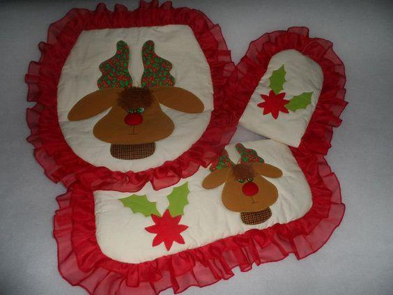 Juego De Baño Navideno A Crochet:Yolanda Gonzalez Reno