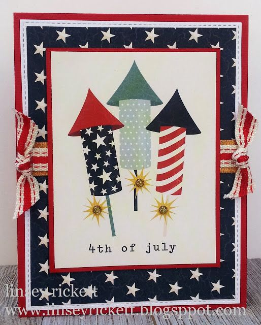 Really Reasonable Ribbon Blog 4th Of July Card Independence Day Card Cards Handmade 4th Of July