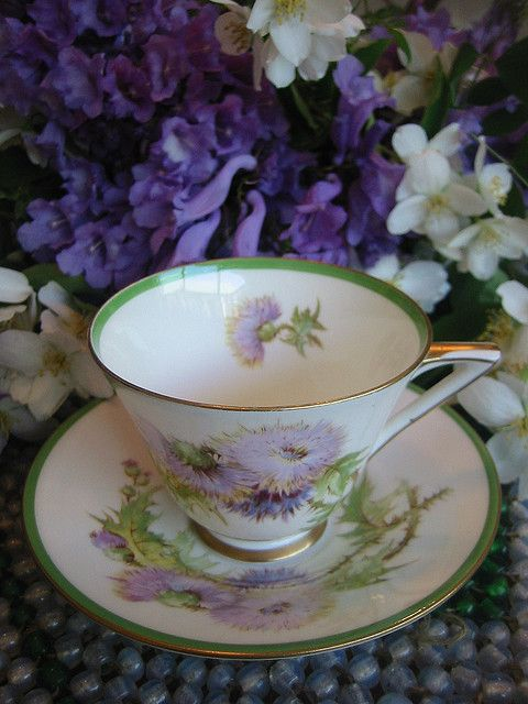 Royal Doulton Scottish Thistle Tea Cup Tea Party