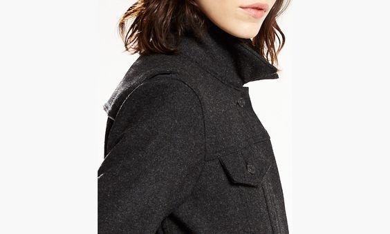 Levi's® Commuter™ Wool Trucker Jacket | Black Heather