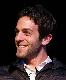 """B.J. Novak,Benjamin Joseph Manaly """"B. J."""" Novak (born July 31, 1979) Newton Mass is an American actor, stand-up comedian, screenwriter, author, and director. He is most widely known for being a writer and executive producer of The Office, in which he also played Ryan Howard."""