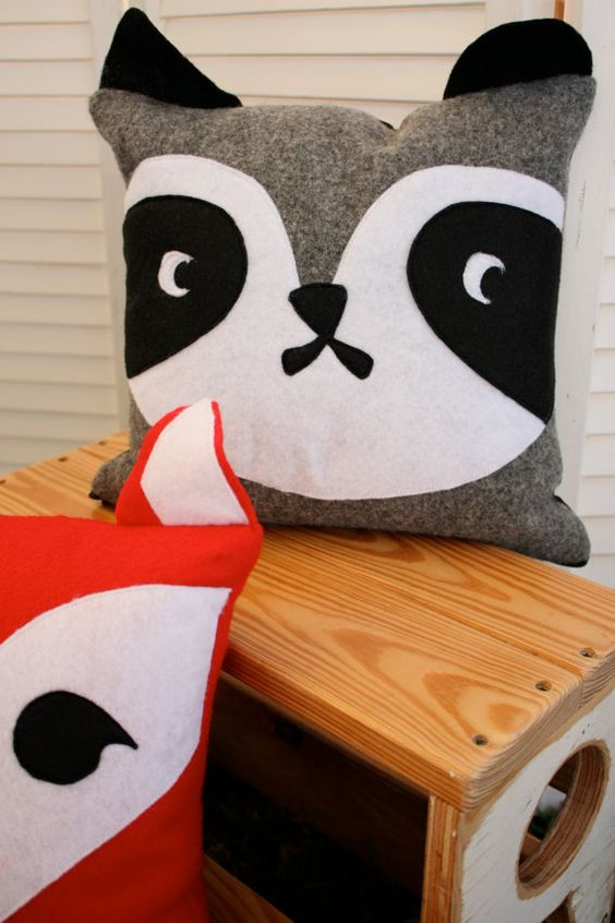 Animal pillows, Woodland animals and Pillow cases on Pinterest