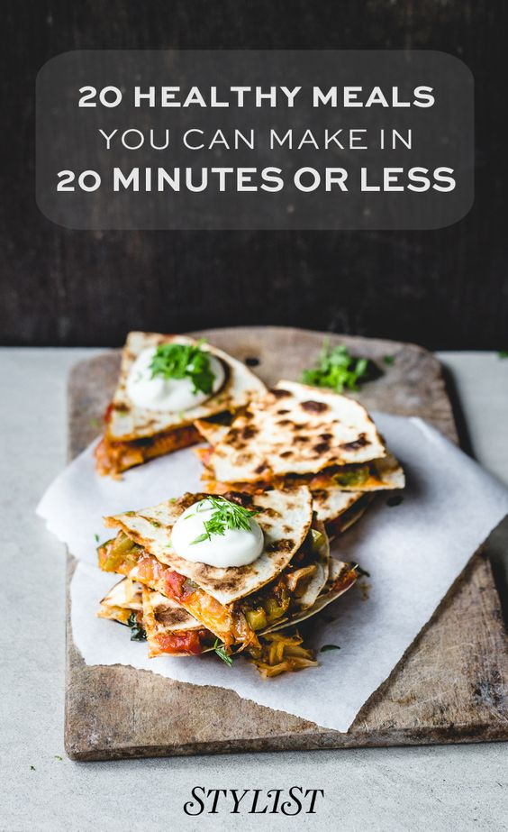 20 healthy meals you can make in 20 minutes or less