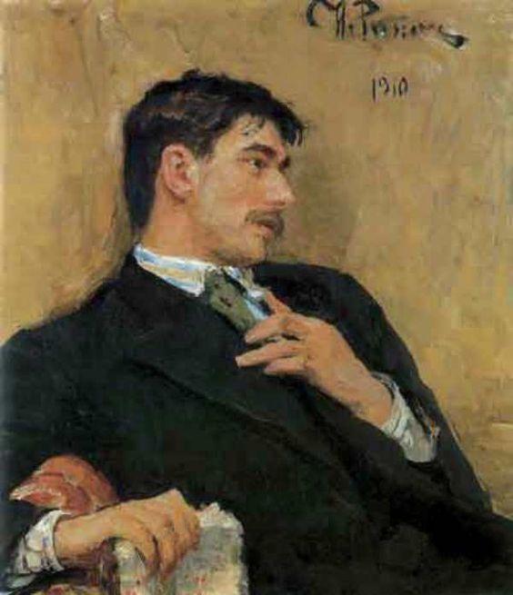 Repin, Il'ya (b,1844)- Chukovsky's Portrait