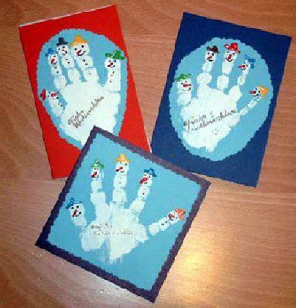 Schneemannkarten