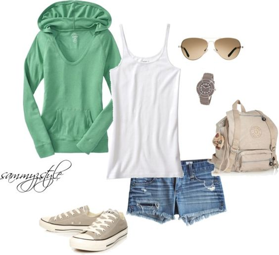 Summer Camping Outfit, created by sammyzstyle on Polyvore