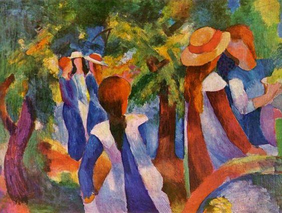 auguste macke paintings | August Macke (1887 - 1914)