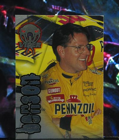 http://nascarniche.blogspot.com/  Johnny Benson 1996 Wheels Viper Trading Card #25 Base Set Nascar