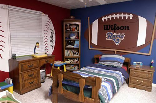 Sports Room Idea Sport Bedroom Boys Room Decor Football Rooms