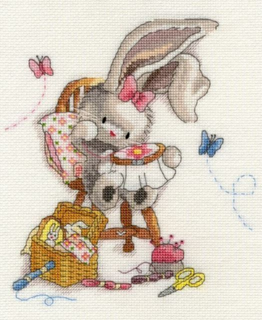 Love is in The Hare Kit de broderie au point de croix Bothy Threads