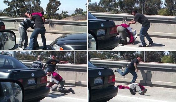 'I never should've got out the car': Police hunt thugs behind horrific highway road rage beating of veteran caught on tape