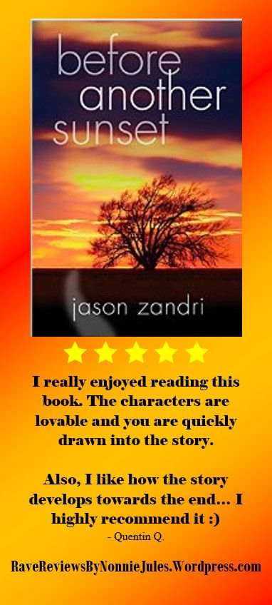 5-Star Review: before another sunset by Jason Zandri @gunderstone #RRBC An Excellent Read!