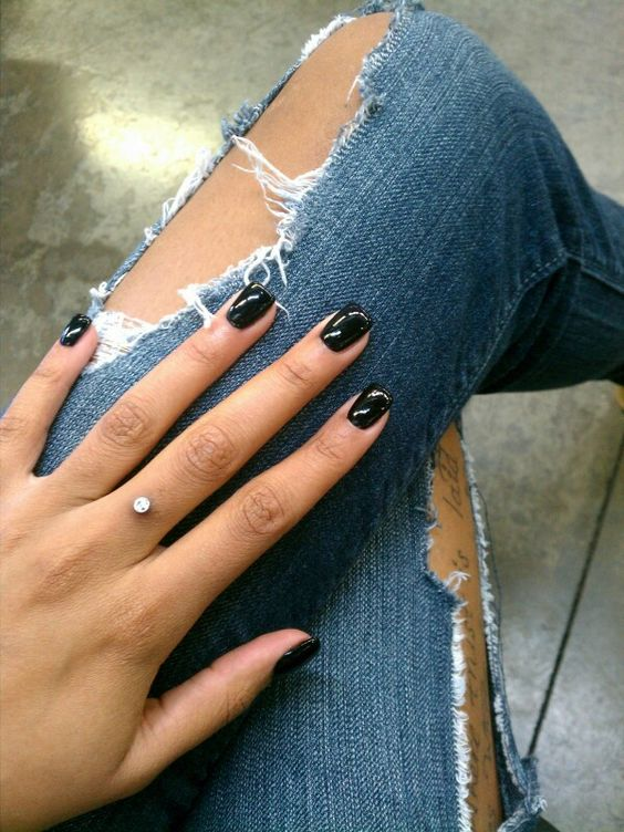 Finger piercing- I would totally do this after tattooing a ring on the finger :)