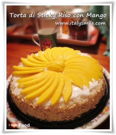 เค้กข้าวเหนียวมะม่วง (Torta di Sticky Riso con Mango)