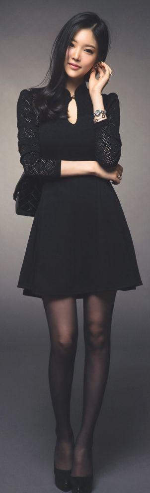 Luxe Asian Women Design Korean Model Fashion