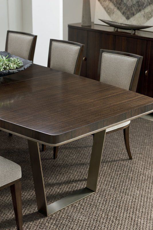 Modern Streamline Extendable Dining Table Side Chairs Dining