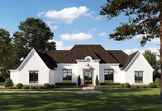 The Cobblestone French Country Design Farmhouse Style House Plans French Country House Plans Country Style House Plans