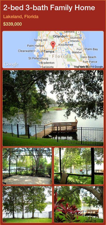 2-bed 3-bath Family Home in Lakeland, Florida ►$339,000 #PropertyForSaleFlorida http://florida-magic.com/properties/50328-family-home-for-sale-in-lakeland-florida-with-2-bedroom-3-bathroom