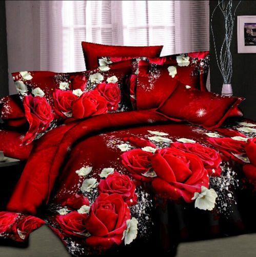 3D Rose Flower Bedding Pillowcase Quilt Duvet Cover Set King Size  https://t.co/8958WftOvJ https://t.co/Ad25rOE4ai