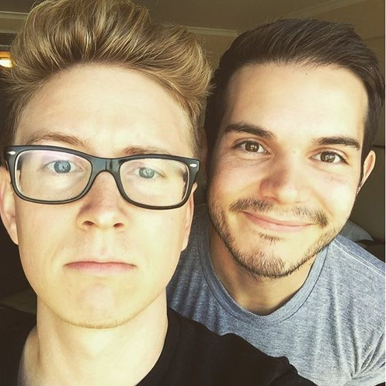 Tyler Oakley and Korey Kuhl