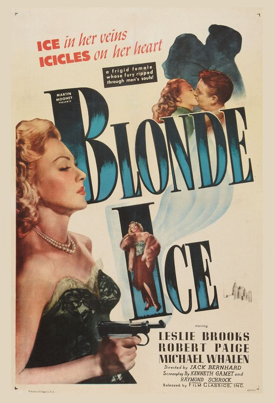 $15 - Film Noir: Blonde Ice Leslie Brooks Movie Poster 1948 #ebay #Collectibles