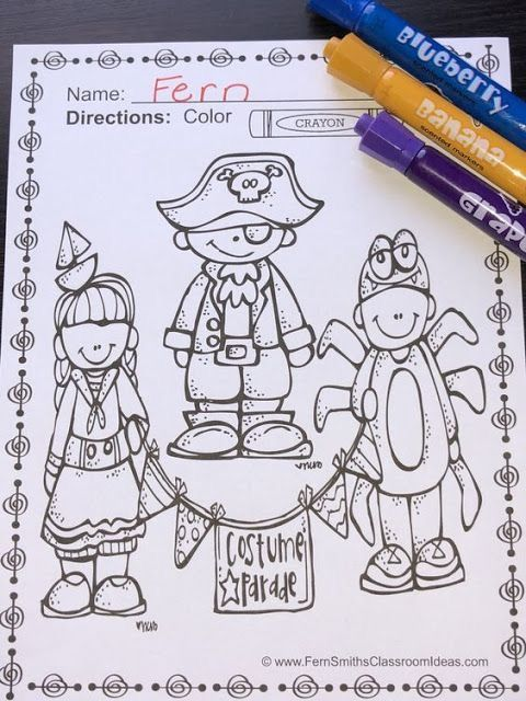 Students Will Adore These Coloring Book Pages For Halloween Add It To Your Plans To Compli Halloween Coloring Book Halloween Coloring Pages Halloween Coloring