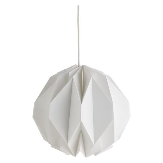 KURA Small white paper lamp shade | Buy now at Habitat UK