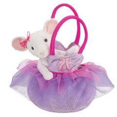 £18.00 Douglas Cuddle Toys Petunia Mouse Pet Sak / Ballerina Mouse in a Bag - These were too cute for us to pass up. Turns out they were just as loved (if not more so) by our mini product testers. Great to be carted everywhere and just the right size to be shoved in your handbag when the playground calls.  Mouse is removable from the bag and wears her own little tutu. Ballerina bag is covered in silver sparkles.