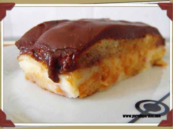 Tarta de crema con cobertura de chocolate fondant: De Chocolate, Chocolates, Chocolate Fondant, Recipes