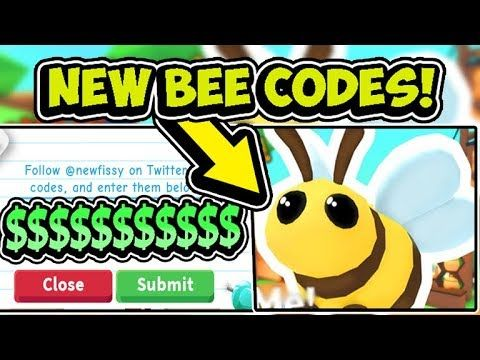 Roblox Adopt Me Codes 2017 All New Adopt Me Free Bee Pet Update Codes 2019 Roblox Youtube Roblox Pet Adoption Adoption