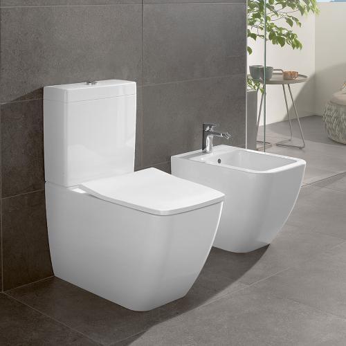 Villeroy Boch Venticello Close Coupled Washdown Toilet Rimless White With Ceramicplus Toilet Suites Bathroom Interior Design Modern Close Coupled Toilets