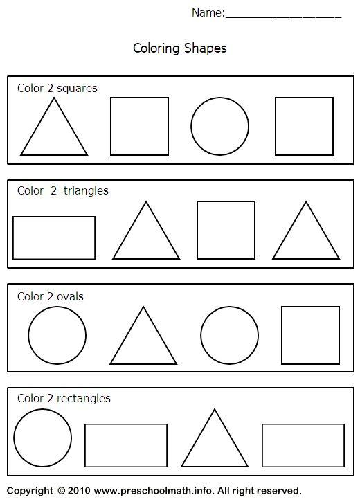 Shape Worksheet For Nursery Class 001 Shapes Worksheet Kindergarten Shapes Worksheets Shape Worksheets For Preschool Preschool color by shape worksheets