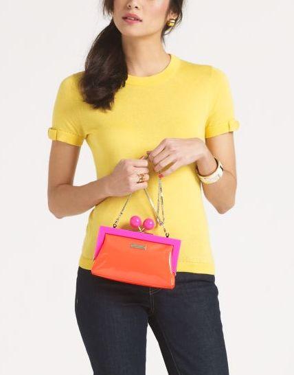 Pink and orange Kate Spade handbag.: Spade Handbag, Kate Spade Bag, Leather Handbags, Handbags Hopper, Orange Pink