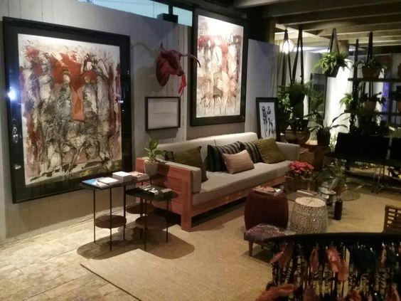Casa Cor  MS Garagem , destaque das obras de arte de Edson Castro
