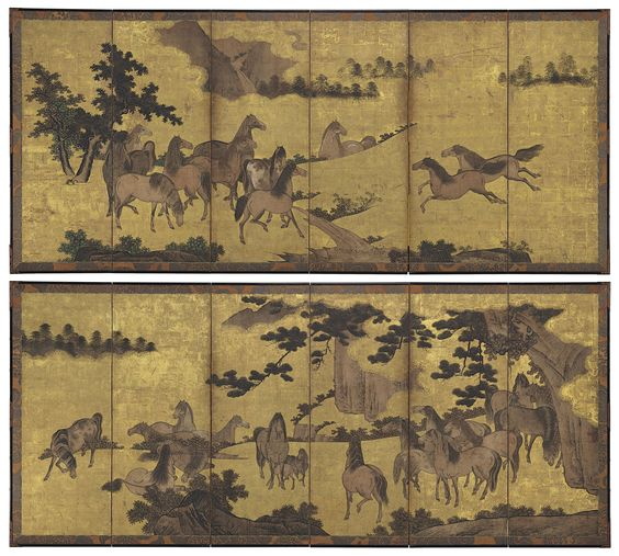 Until now, the location of these screens has been a mystery. As recently as 2001, Japanese scholars listed the owner as Maeda Collection. In 1904, and again in 1917, when the screens were first published as rare masterpieces worthy of attention, they were in the collection of a famous, old daimyo family in Tokyo, Marquis Maeda Toshinari (1885–1942). Maeda commanded Japanese forces in Borneo during World War II and died there in a plane crash. At some point, presumably after Maeda's death, works