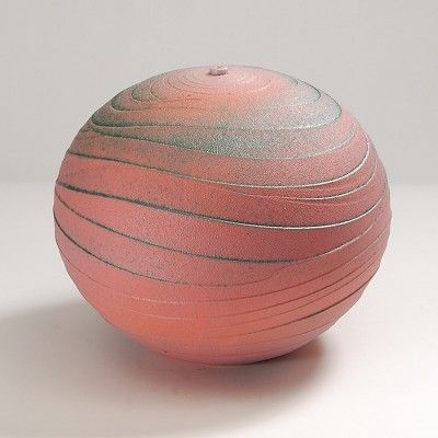 Nicholas Bernard | Wide Wavy Rose, Earthenware, Colored Slips and Oxides: