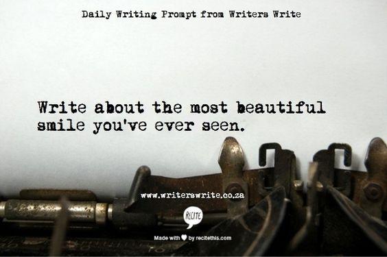 creative writing handsome