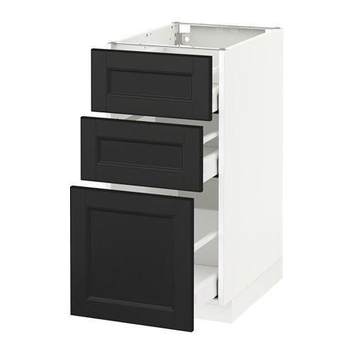Metod Maximera Element Bas 3 Tiroirs Blanc Ringhult Blanc 40x60 Cm Ikea Ikea Tiroir Element Bas