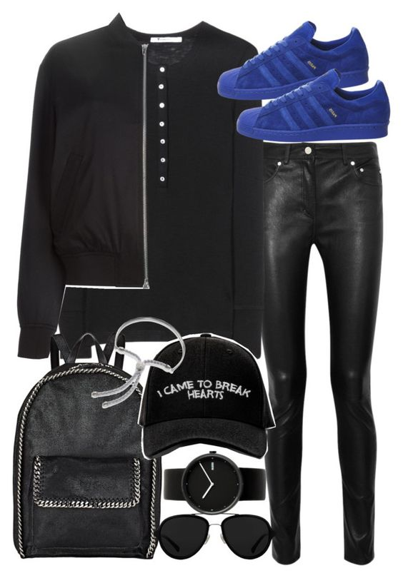 """""""Untitled #19472"""" by florencia95 ❤ liked on Polyvore featuring Acne Studios, T By Alexander Wang, STELLA McCARTNEY, Manolo Blahnik, 3.1 Phillip Lim, Alessi and Monica Vinader"""