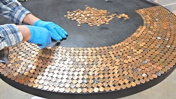 We're going to show you how to create a penny table top using a durable product called glaze coat.