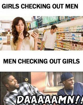 Men Checking Out Women