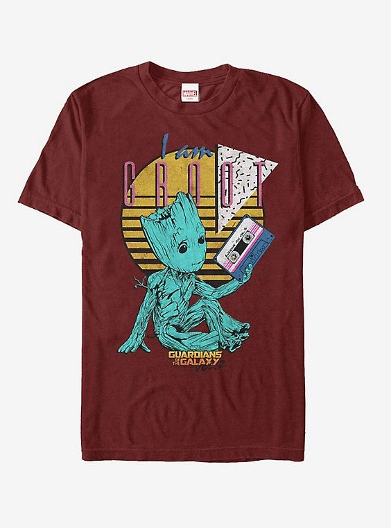 New Marvel Guardians of the Galaxy Groot Christmas Vintage Mens T-Shirt