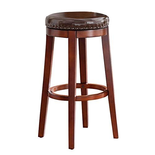 Wooden Bar Chair Adjustable Rotating Bar Stool For Breakfast Seat