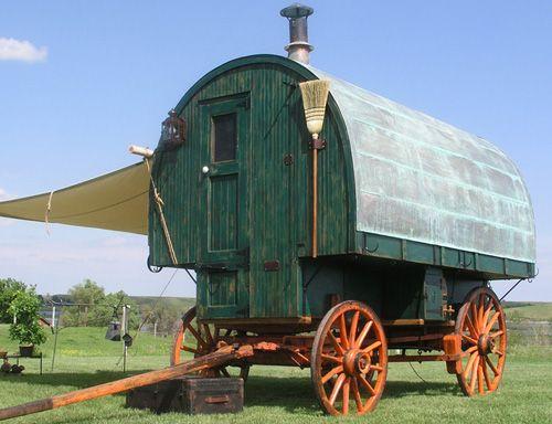 Restored sheep wagon hansen wheel and wagon camping pinterest sheep - The mobile shepherds wagon ...