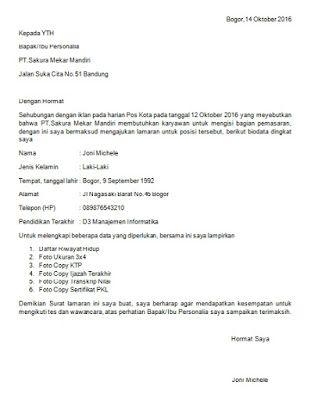 Majikan Ini Tunjuk Contoh Cover Letter Paling  Perfect  Yang     Contoh Offer Letter Bahasa Melayu Cover Sample