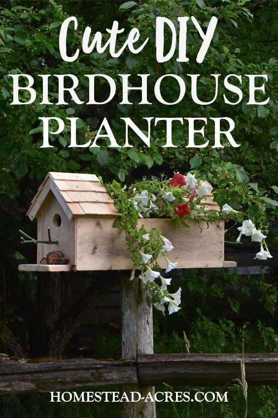 Birdhouse Planter Easy Diy Planter Box Bird Houses Diy Diy Planter Box Garden Boxes Diy