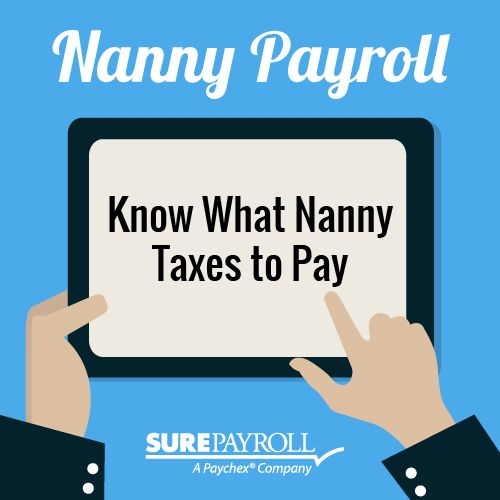 You're also responsible for matching (not just withholding) Social Security and Medicare taxes every paycheck; reporting those taxes via Schedule H with your annual 1040; and possibly the federal unemployment tax or FUTA. http://blog.surepayroll.com/top-5-nanny-payroll-mistakes/#sthash.zwLmHx5m.dpuf #nanny #taxes