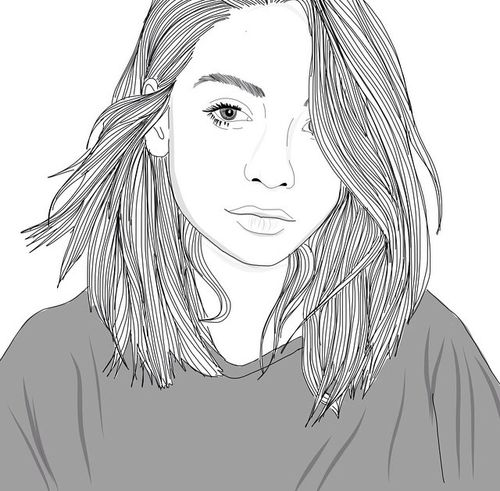 Line Drawing Of Girl Tumblr : Pinterest ein katalog unendlich vieler ideen