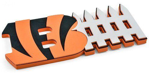 Cincinnati Bengals 3D Foam D-Fence Sign - Orange
