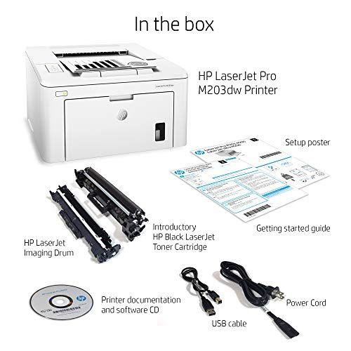 Hp Laserjet Pro M203dw Wireless Laser Printer Amazon Dash Replenishment Ready G3q47a Replaces Hp M201dw Laser Printer Ad Laser Printer Printer Wireless